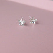 MEDICAL PLASTIC Star 6 mm, Crystal - Skin Friendly Earrings Ireland