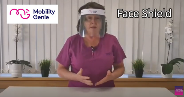 Face Shield from MobilityGenie Ireland PPE