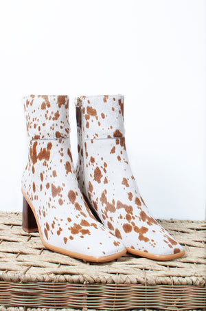 Load image into Gallery viewer, West Cow Ankle Boot