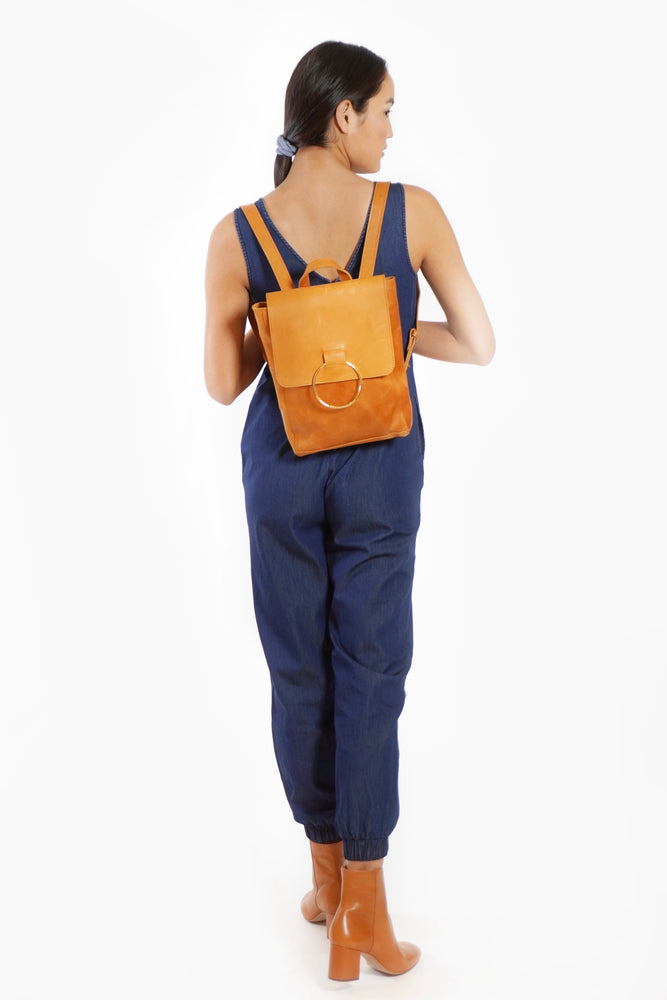Load image into Gallery viewer, Fozi Leather Backpack