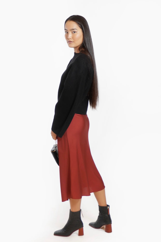Load image into Gallery viewer, Classic Silk Midi Skirt