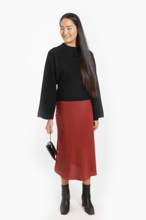 Load image into Gallery viewer, Bell Sleeve Cropped Sweater