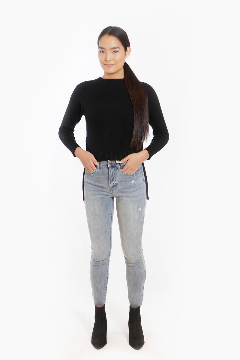 Lennon High Rise Cropped Boot Cut Jean