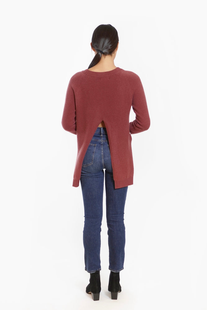 Load image into Gallery viewer, Cashmere Backslit Sweater