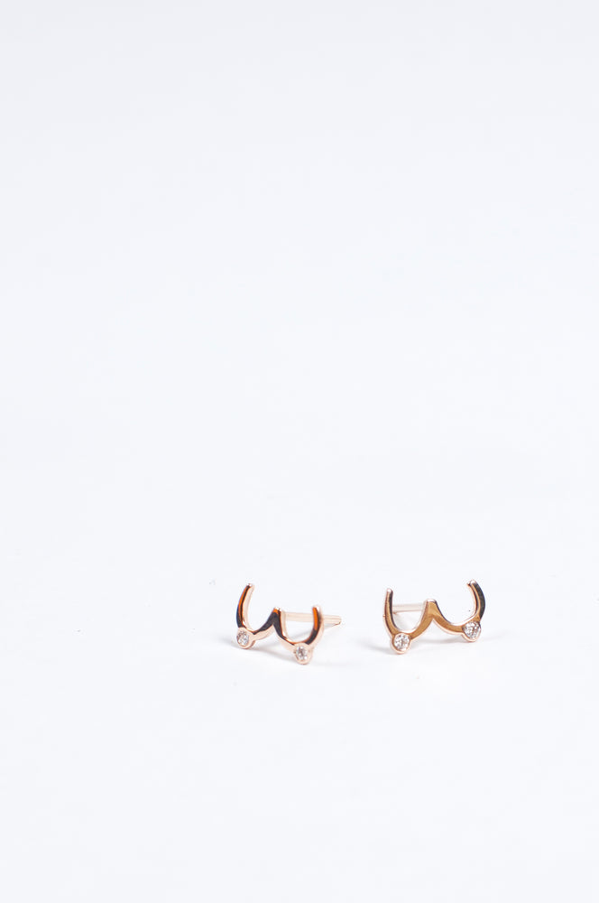 Juntas 14k Gold Stud Earrings by Martha Cristina