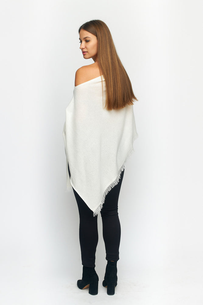 Load image into Gallery viewer, Knit Poncho With Fringe