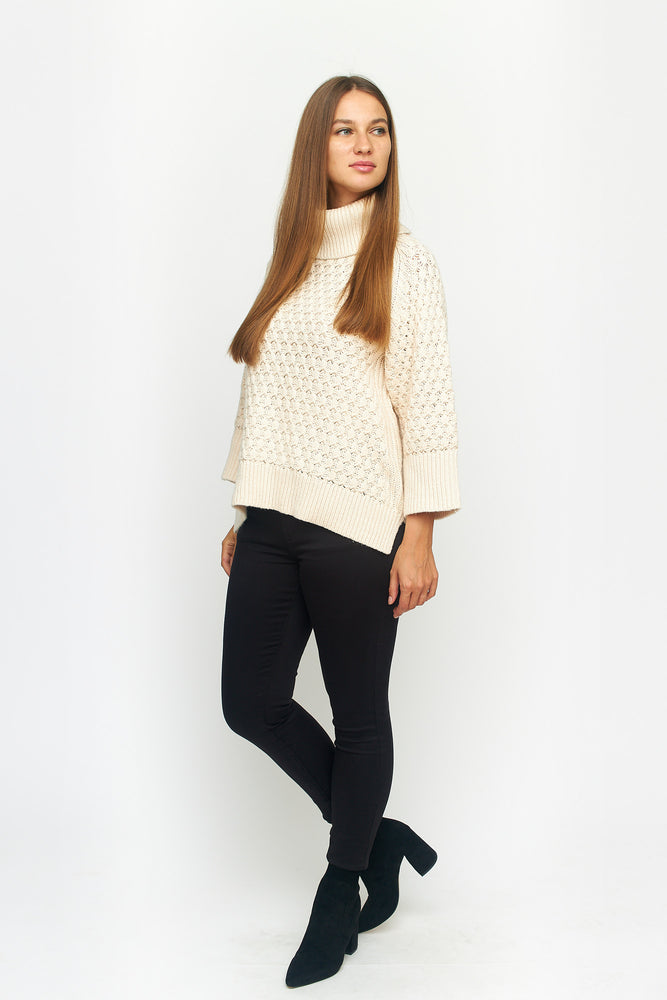 Load image into Gallery viewer, Cable Knit Turtle Neck Sweater