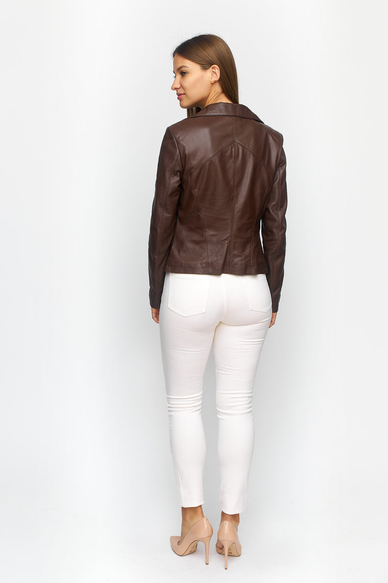 Tailored Leather Moto Jacket