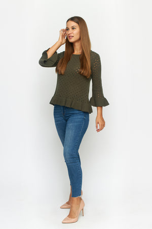Load image into Gallery viewer, Maren Bell Sleeve Sweater