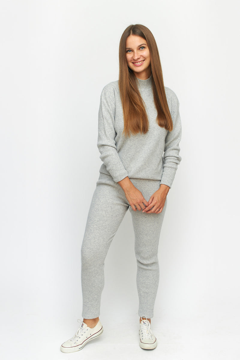 Ribbed Cashmere Lounge Sweater Pants