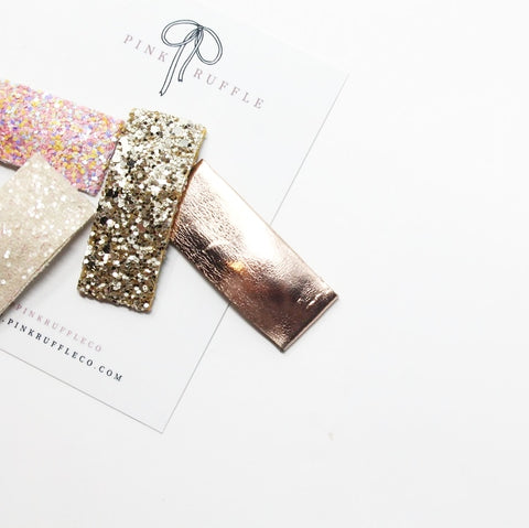 Glitter Snap Clips