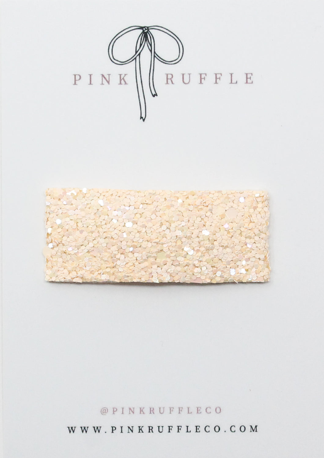 Glitter Snap Clips | Buttercream