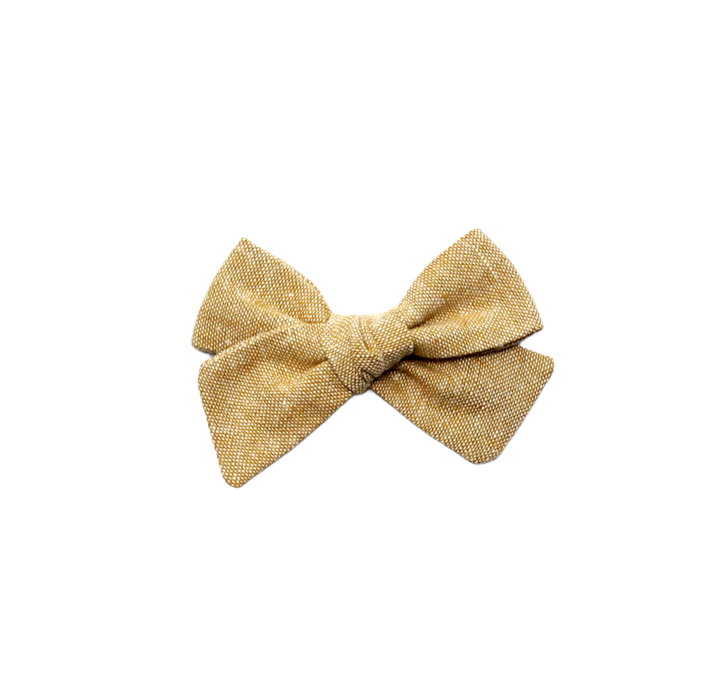 Mini Pinwheel Bow | Butterscotch