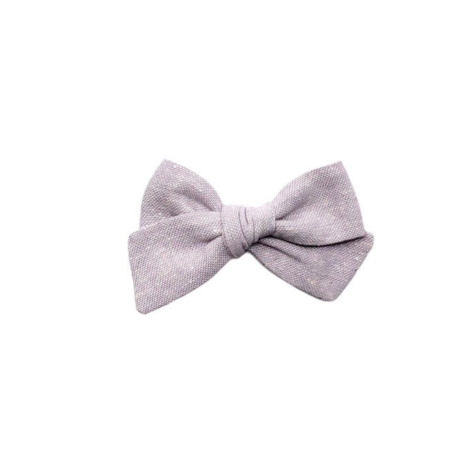 Mini Pinwheel Bow | Lilac