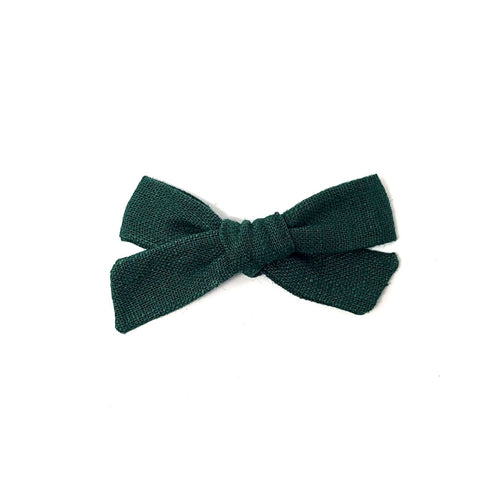 Petite Pigtail Bow | Forest Green