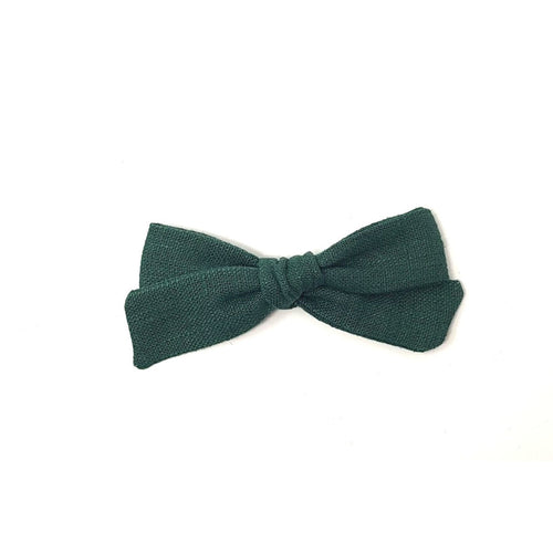 Regular Pigtail Bow | Forest Green