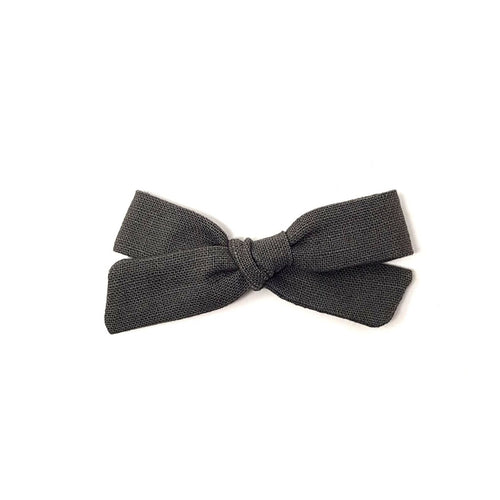 Petite Pigtail Bow | School Grey