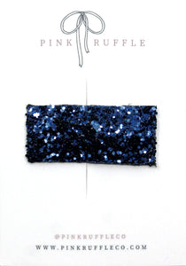 Glitter Snap Clips | Oxford Blue