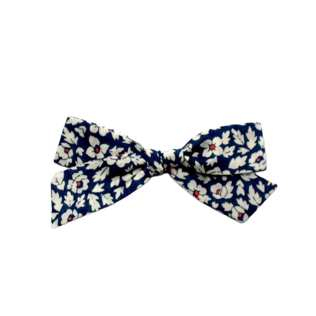Regular Pigtail Bow | Blue Piper