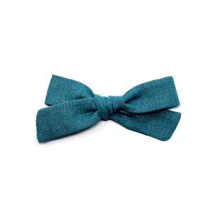Regular Pigtail Bow | Teal