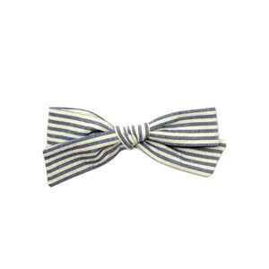 Regular Pigtail Bow | Seersucker Stripe