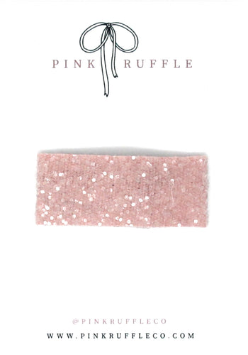 Glitter Snap Clips | Nude Pink