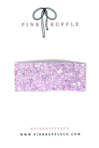 Glitter Snap Clips | Lilac