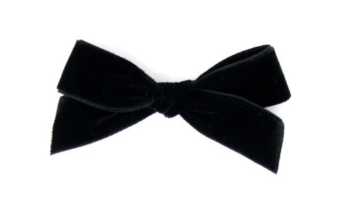 Luxury Velvet Pigtail Bow | Black