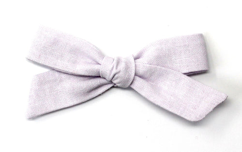 Oversized Pigtail Bow | Lilac