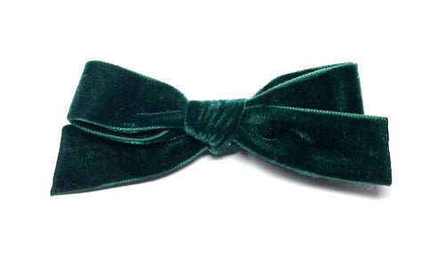 Luxury Velvet Ribbon Bow | Emerald