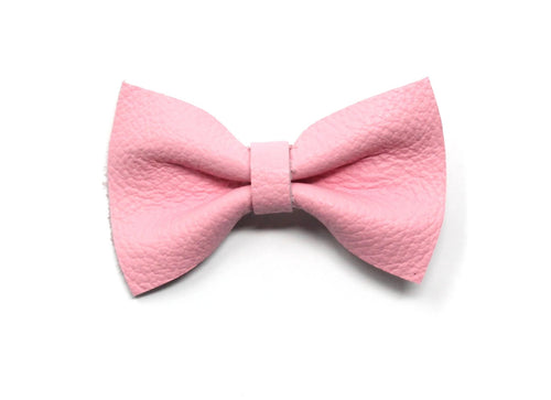 Leather Belle Bow | Pink