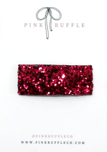 Glitter Snap Clips | Ruby Red