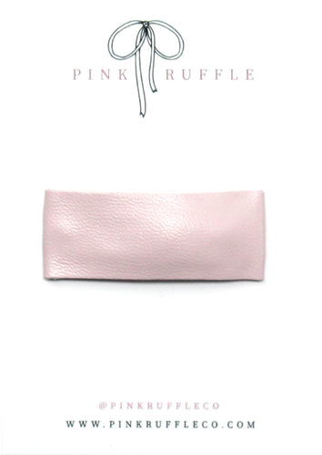 Leather Snap Clip | Blush Pink