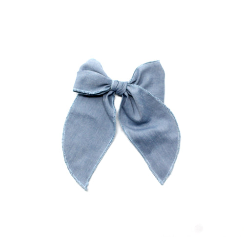 Flora Bow | Chambray