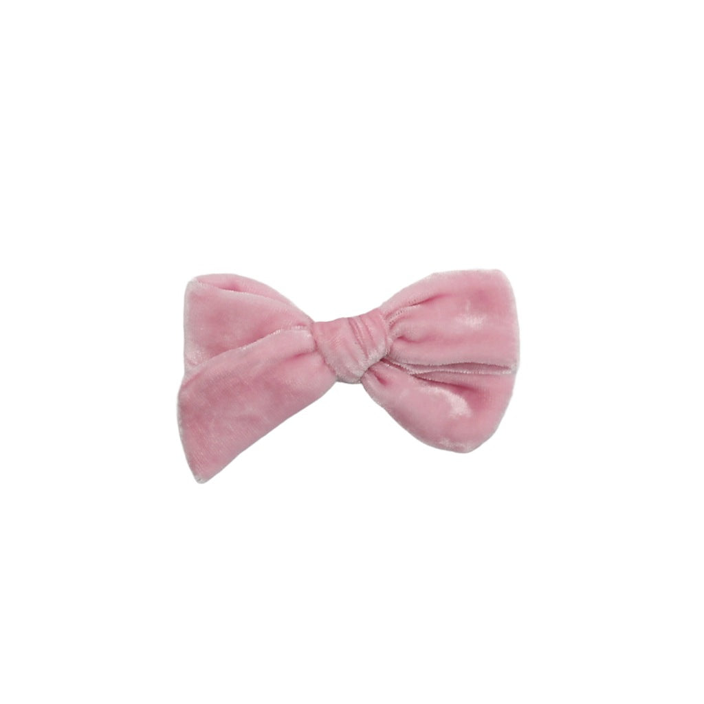 Petite Silk Velvet Bow | Candy Floss