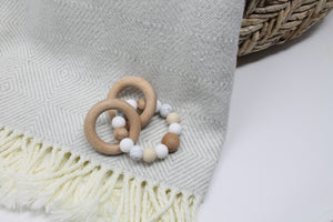 Natural Rattle Teether Toy