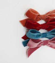 Load image into Gallery viewer, Luxury Velvet Hand-Tied Bow- Aurora Pink
