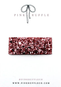 Glitter Snap Clips | Frosted Cherry