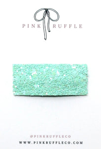 Glitter Snap Clips | Mint