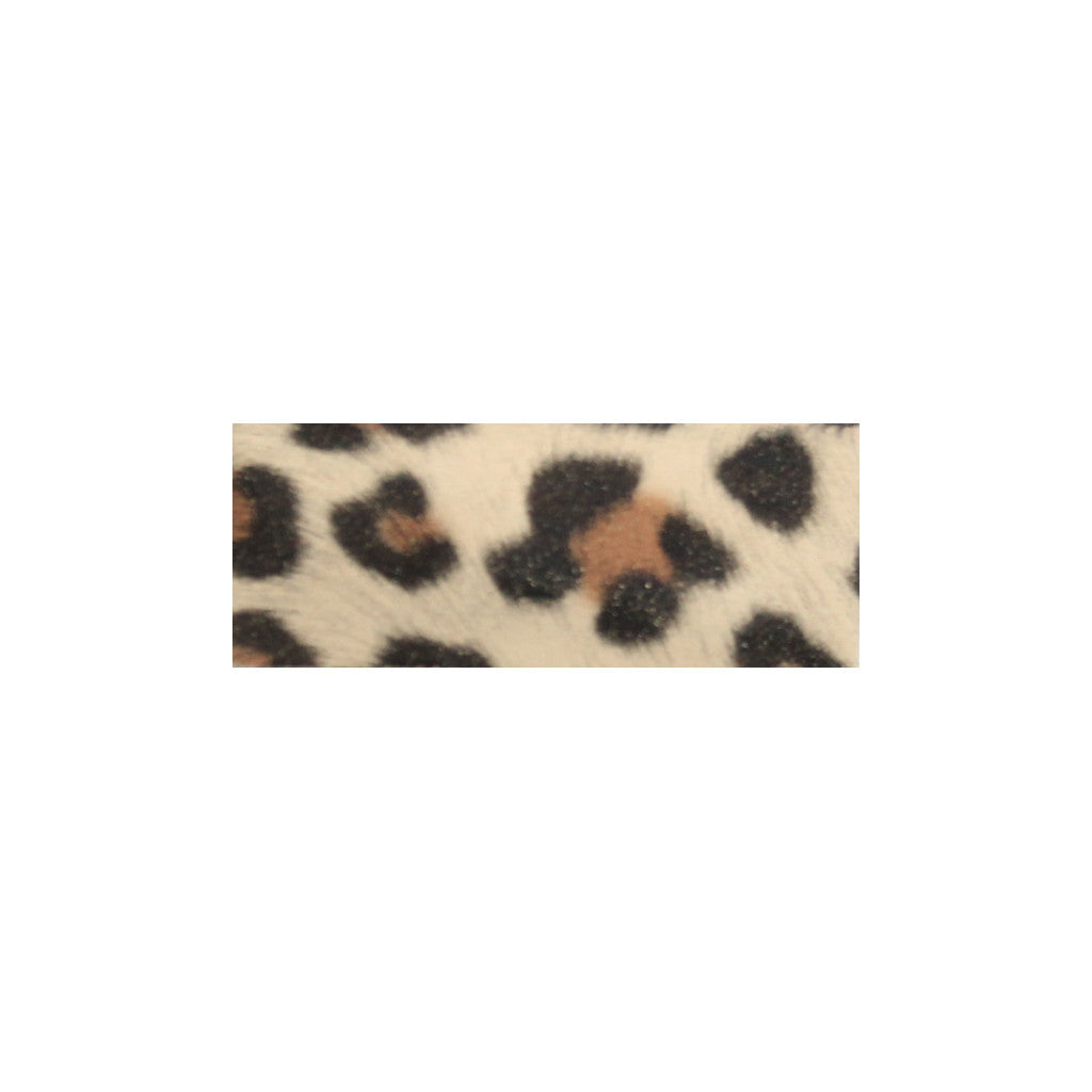 Leather Snap Clip | Beige Leopard