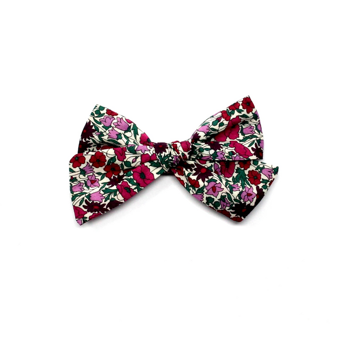 Mini Pinwheel Bow | Red Roses
