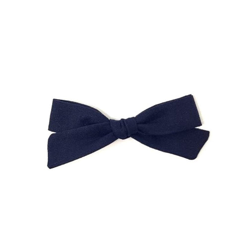 Regular Pigtail Bow | Navy