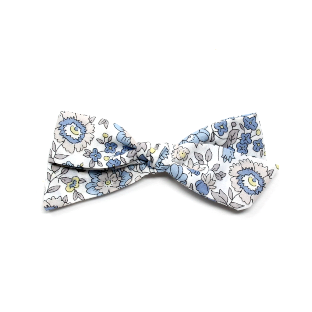 Regular Pigtail Bow | Blue Leaf