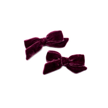 Load image into Gallery viewer, Petite Silk Velvet Bow | Mesmerise