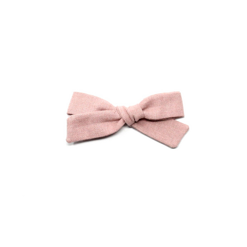 Petite Pigtail Bow | Dusky Pink