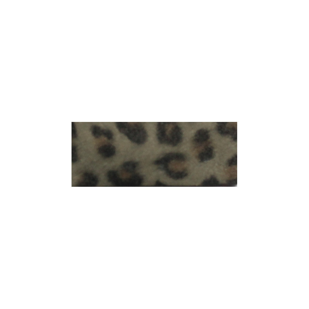 Leather Snap Clip | Grey Leopard