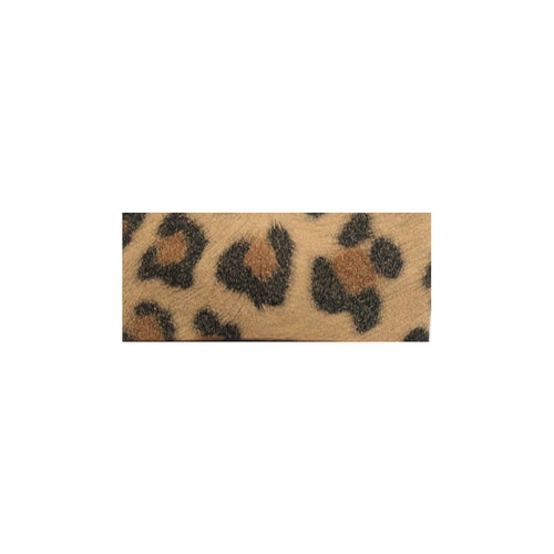 Leather Snap Clip | Leopard