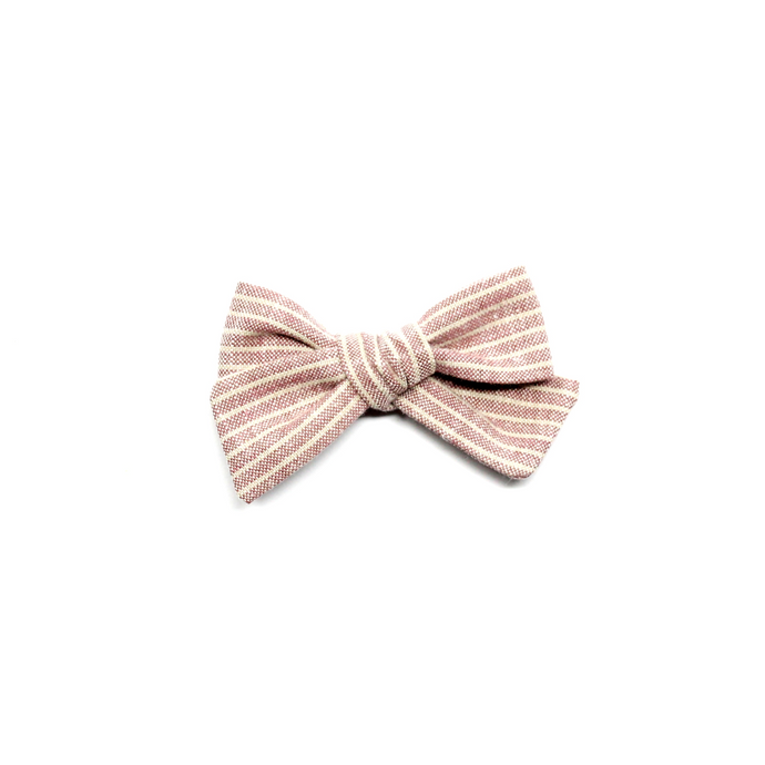 Mini Pinwheel Bow | Pink Stripe