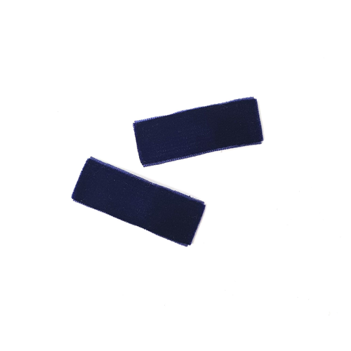 Velvet Snap Clips | Navy