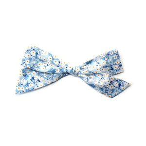 Oversized Pigtail Bow | Blue Daisy